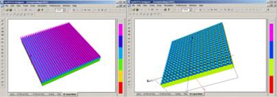 FDTD - Diffraction Grating 3D Layouts
