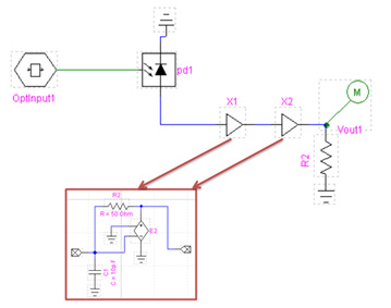 Optical System - Figure 7 - Electrical receiver circuit design