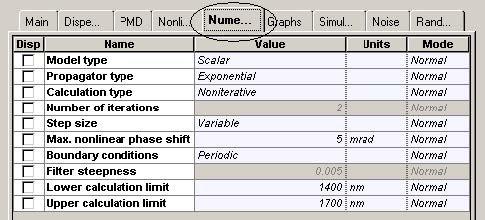 Optical System - Figure 12 DCF parameters5