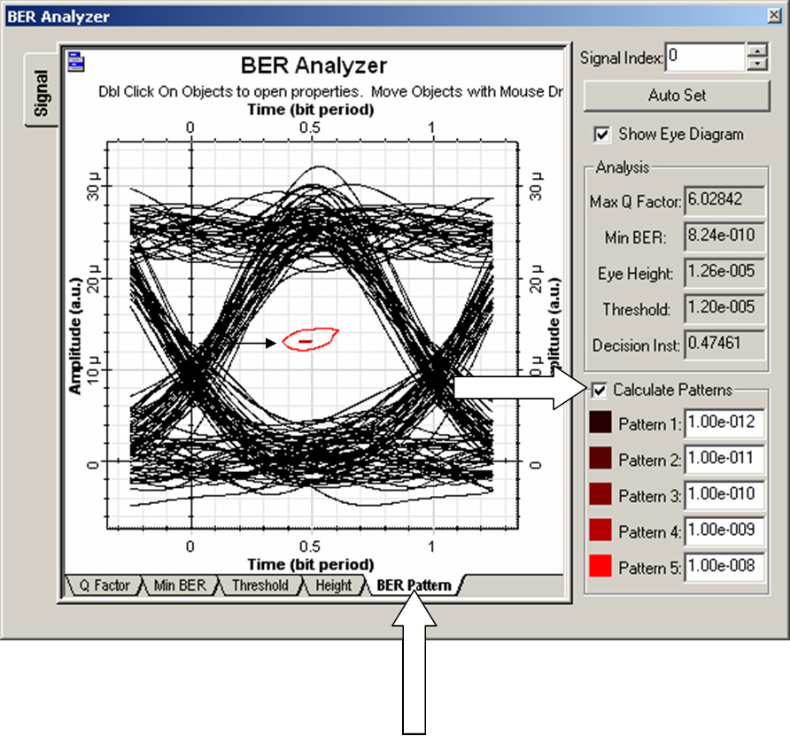 Optical System - Figure 17 - Calculating BER patterns