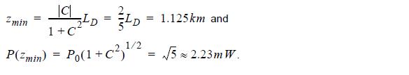 Optical System - Equation