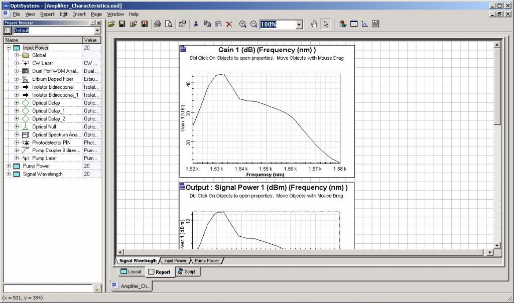 Optical System - Figure 3 - Report page