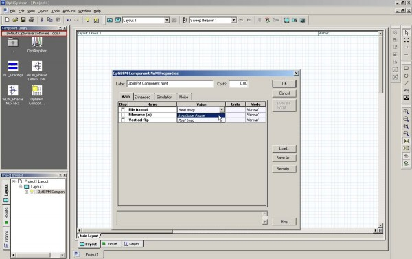 BPM - Figure 14 OptiBPM Component NxM Properties dialog box