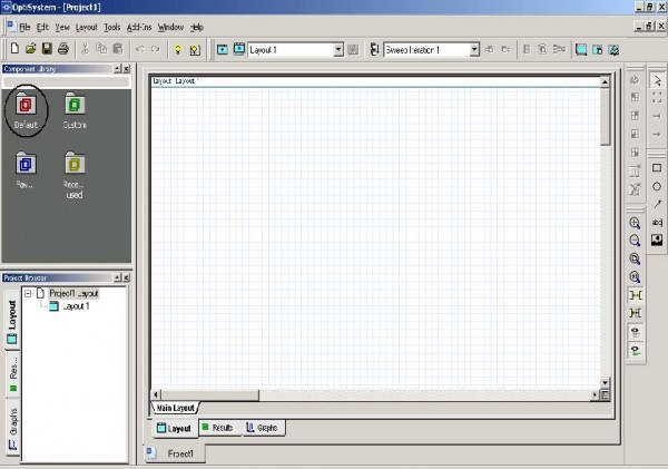 BPM - Figure 12 OptiSystem—New project