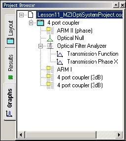 BPM -Figure 27 Optical Filter Analyzer under Project Browser