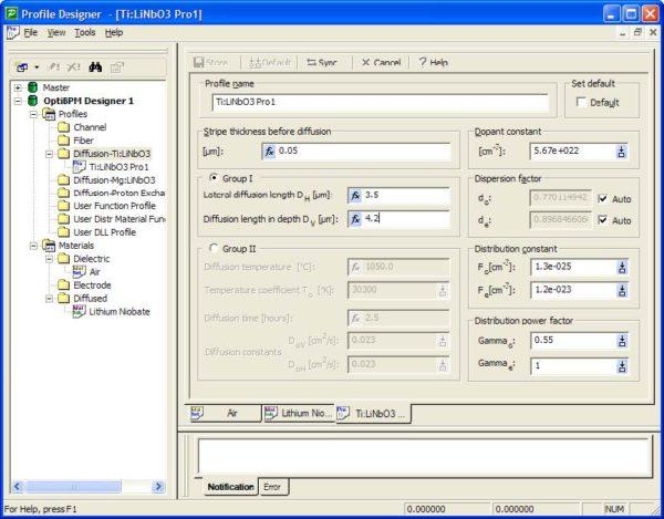 BPM - Figure 1 Ti:LiNb03 Pro1 Profile