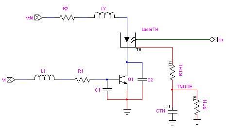 Optical SPICE - Figure 2 LaserBlck Subcircuit