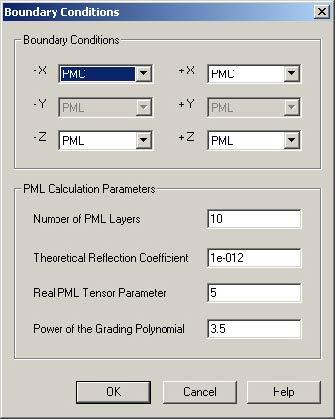 FDTD - Figure 107 2D simulation parameters