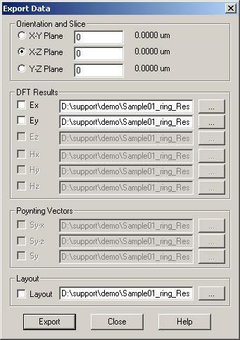 FDTD - Figure 64 Export results