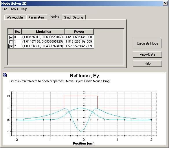 FDTD - Figure 78 Mode Solver 2D dialog box
