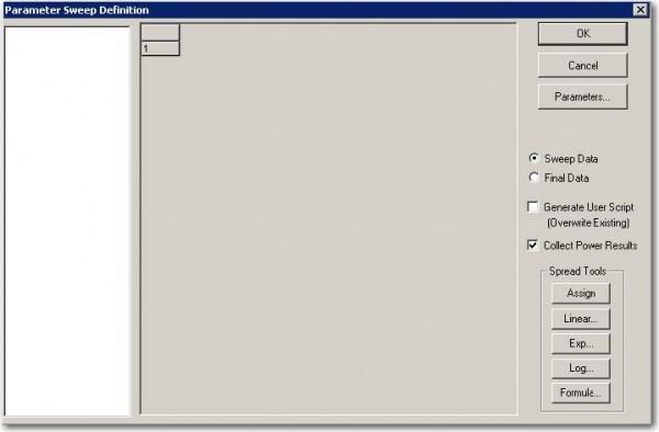 FDTD - Figure 5 Parameter Sweep Definition