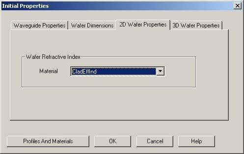 BPM - Figure 5 2D Wafer Properties tab