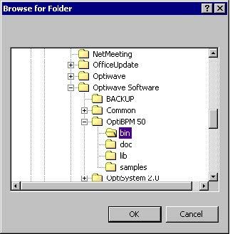 BPM - Figure 38 Browse for Folder dialog box