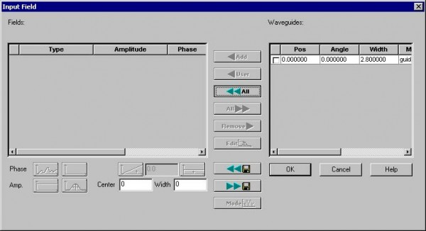 BPM - Figure 16 Input Field dialog box