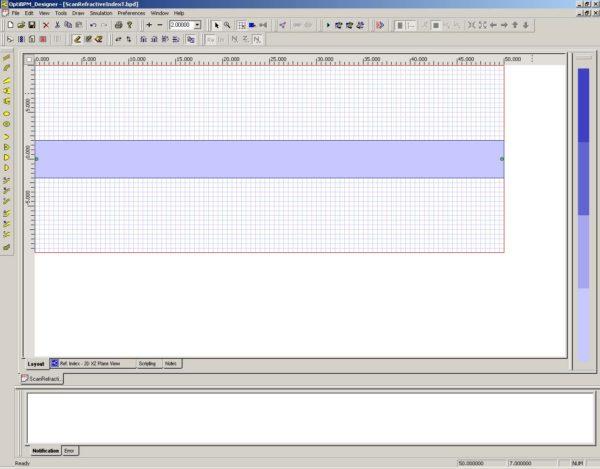 BPM - Figure 8 Draw Linear Waveguide