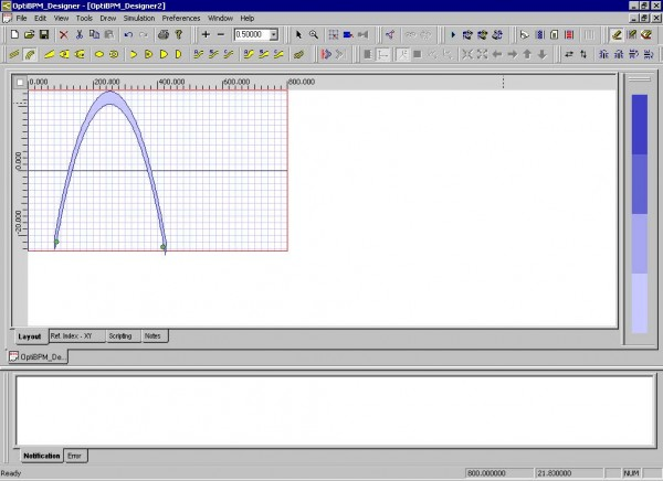 BPM - Figure 4 Drawing an arc waveguide