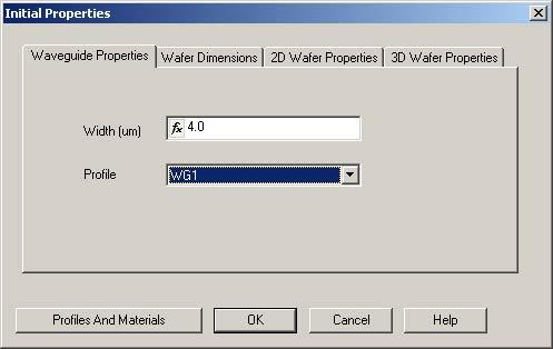 BPM - Figure 3 Initial Properties dialog box