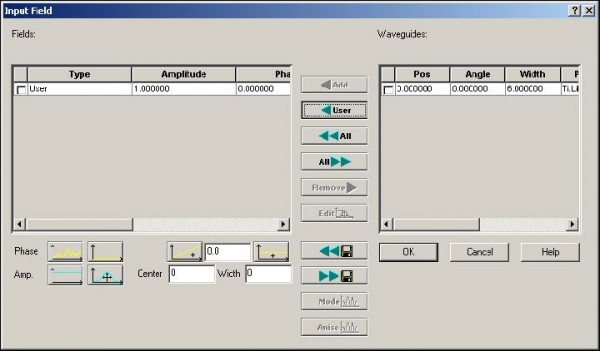 BPM - Figure 4 Input Field dialog box