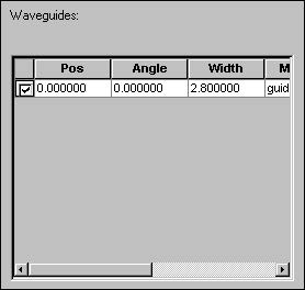 BPM - Figure 17 Item in Waveguides window