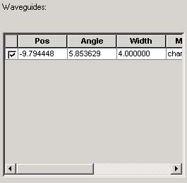 BPM - Figure 13 Item in Waveguides window
