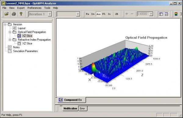 BPM - OptiBPM_Analyzer — Optical Field Propagation