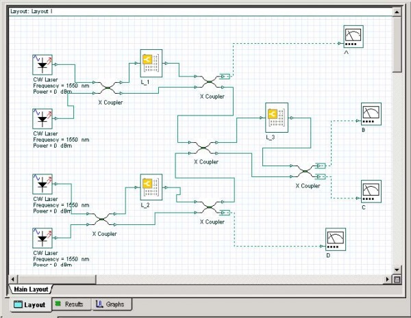 BPM - OptiSystem simple layout