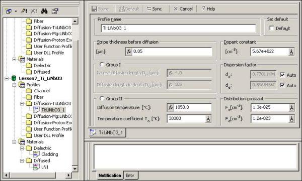 BPM - Figure 3 Profile Designer — Ti:LiNb03