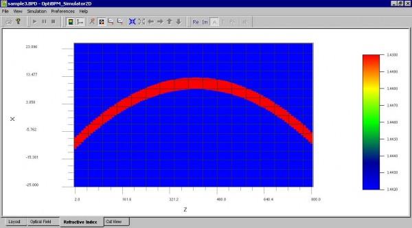 BPM - Figure 26 Refractive Index — 2D view