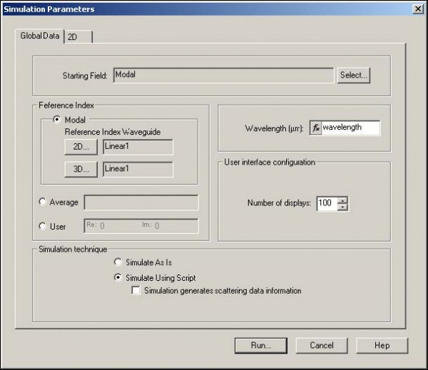 BPM - Figure 14 Run simulation using the scripto