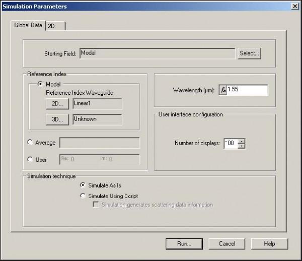 BPM - Figure 23 Simulation Parameters dialog box