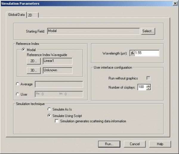 BPM - Figure 26 Simulation Parameters dialog box