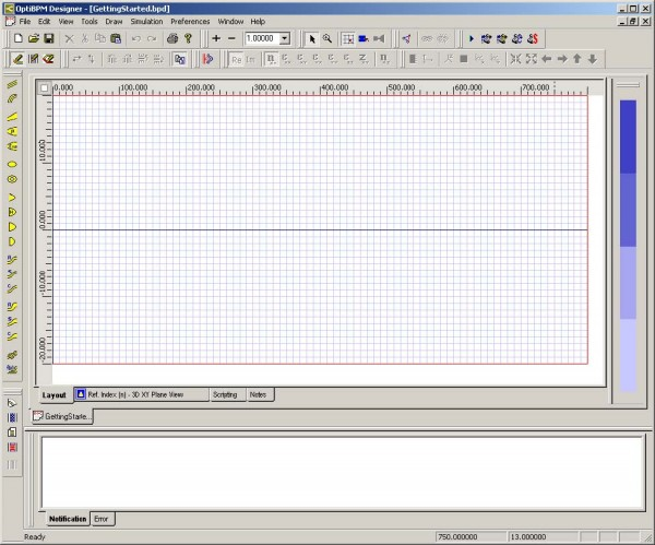 Optical BPM - Layout window