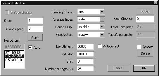 Optical Grating - Grating Definition