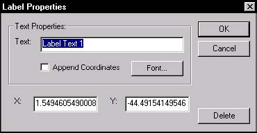 Optical Fiber - Figure 24 Label Properties dialog box