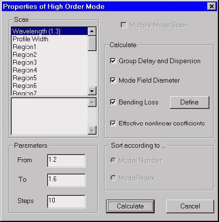 Optical Fiber - High Order Mode