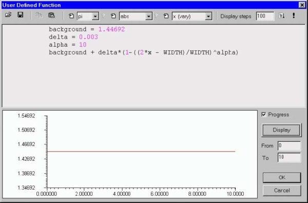 Optical Fiber - User Defined Function dialog box
