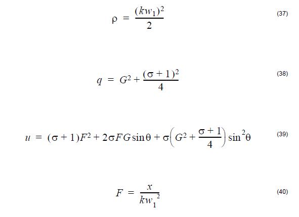 Optical Fiber - equation 37-40